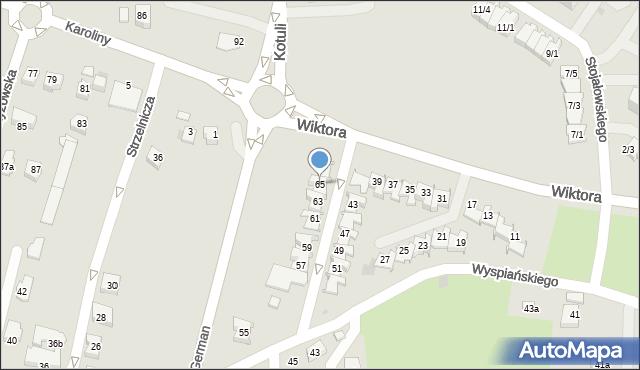 Rzeszów, Wiktora Jana, 65, mapa Rzeszów