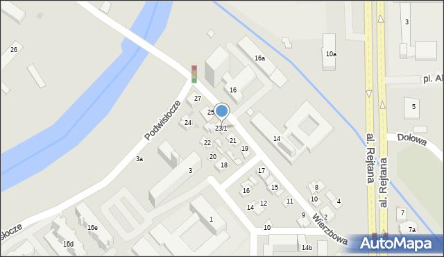 Rzeszów, Wierzbowa, 23/1, mapa Rzeszów