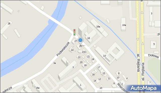 Rzeszów, Wierzbowa, 25, mapa Rzeszów