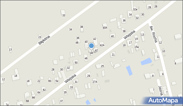 Sokołów Podlaski, Wiejska, 44, mapa Sokołów Podlaski
