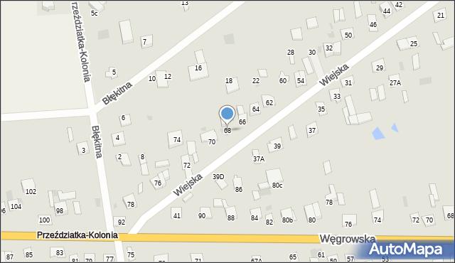 Sokołów Podlaski, Wiejska, 68, mapa Sokołów Podlaski