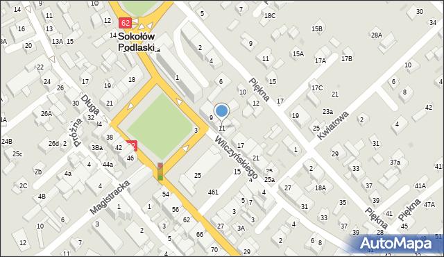 Sokołów Podlaski, Wilczyńskiego, 11, mapa Sokołów Podlaski