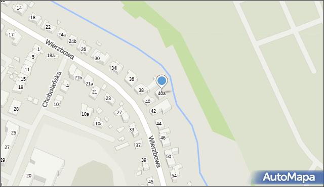 Szczecin, Wierzbowa, 40a, mapa Szczecina