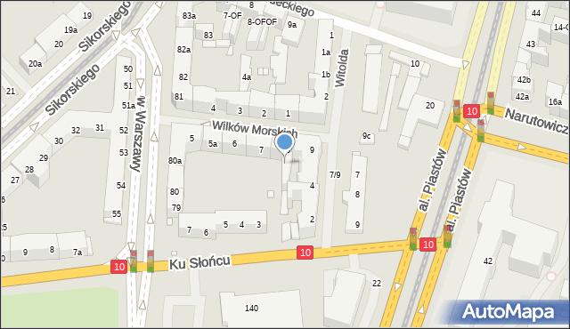 Szczecin, Wilków Morskich, 8-OF, mapa Szczecina