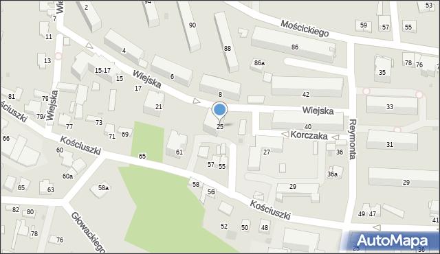 Tarnów, Wiejska, 25, mapa Tarnów