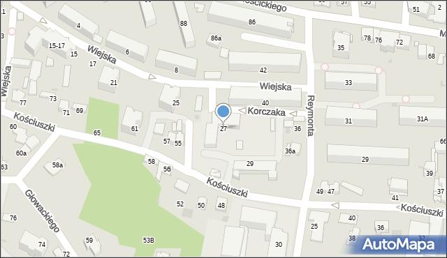 Tarnów, Wiejska, 27, mapa Tarnów