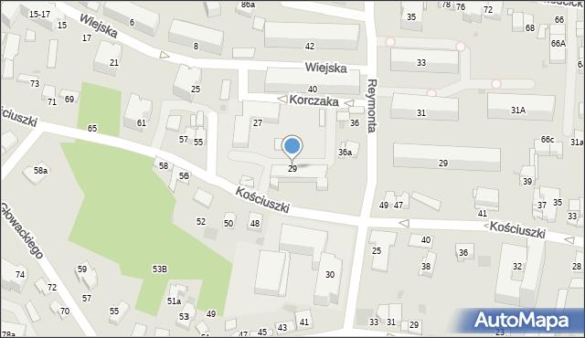 Tarnów, Wiejska, 29, mapa Tarnów