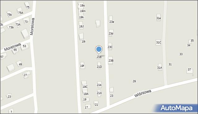 Tarnowskie Góry, Wiśniowa, 21E, mapa Tarnowskie Góry