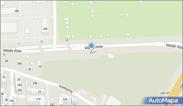 Toruń, Wielki Rów, 17, mapa Torunia