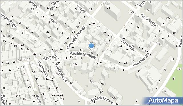 Toruń, Wielkie Garbary, 10, mapa Torunia