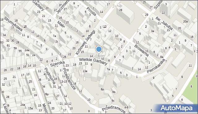 Toruń, Wielkie Garbary, 12, mapa Torunia