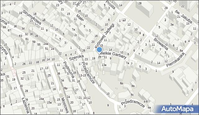 Toruń, Wielkie Garbary, 15, mapa Torunia