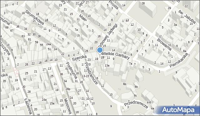Toruń, Wielkie Garbary, 17, mapa Torunia