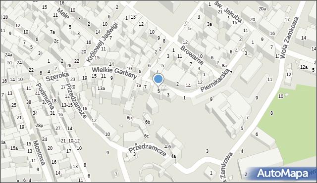 Toruń, Wielkie Garbary, 5, mapa Torunia