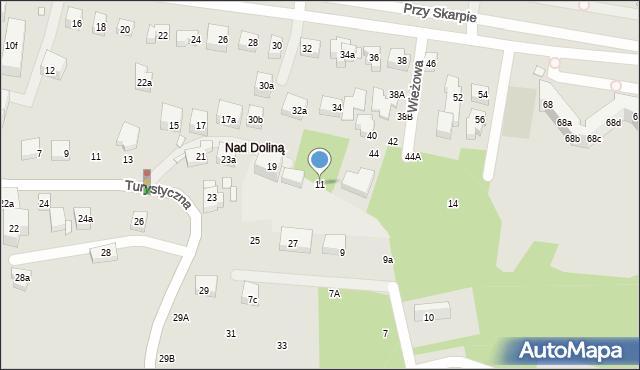 Toruń, Wieżowa, 11, mapa Torunia