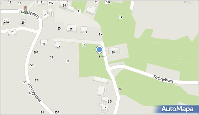 Toruń, Wieżowa, 7, mapa Torunia