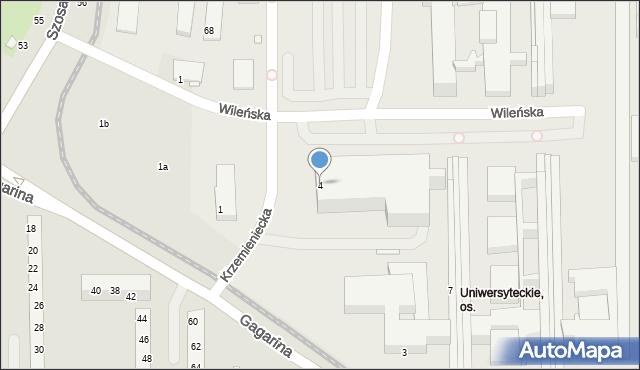 Toruń, Wileńska, 4, mapa Torunia