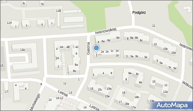 Toruń, Witkowskiego Leona, 1, mapa Torunia