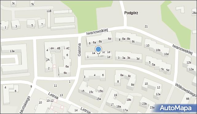 Toruń, Witkowskiego Leona, 1b, mapa Torunia