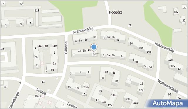 Toruń, Witkowskiego Leona, 1d, mapa Torunia
