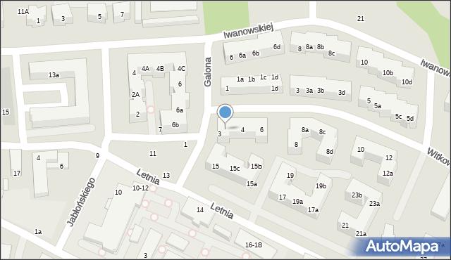 Toruń, Witkowskiego Leona, 2, mapa Torunia