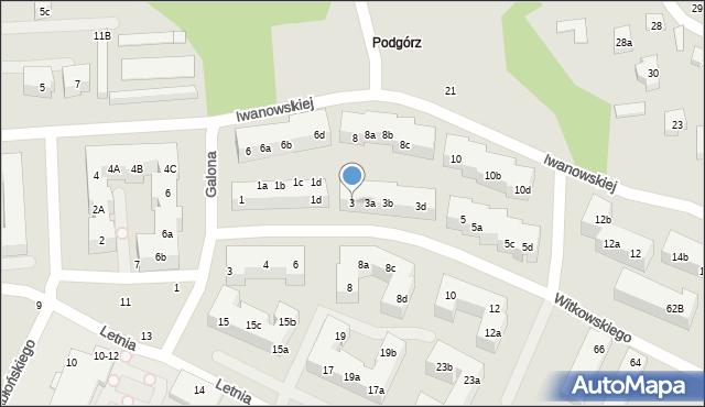 Toruń, Witkowskiego Leona, 3, mapa Torunia