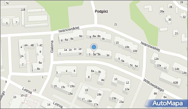 Toruń, Witkowskiego Leona, 3a, mapa Torunia