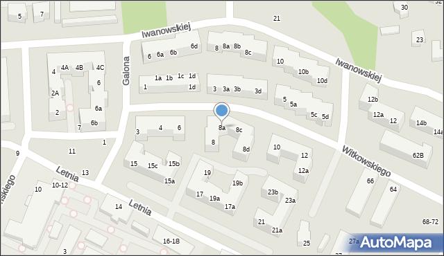 Toruń, Witkowskiego Leona, 8a, mapa Torunia