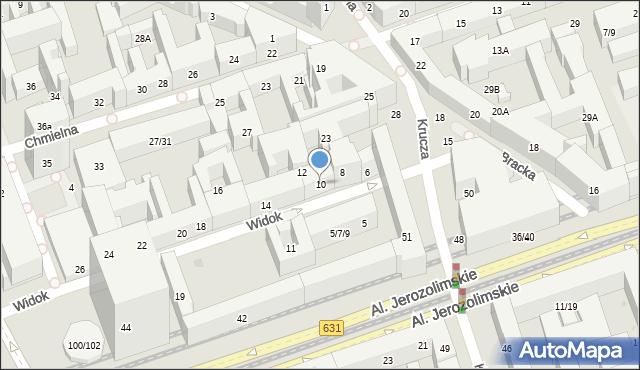 Warszawa, Widok, 10, mapa Warszawy