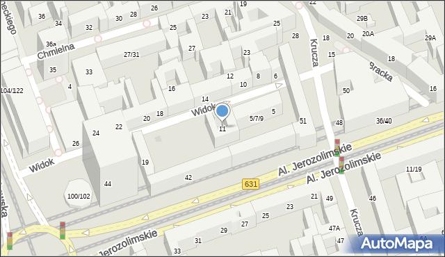 Warszawa, Widok, 11, mapa Warszawy