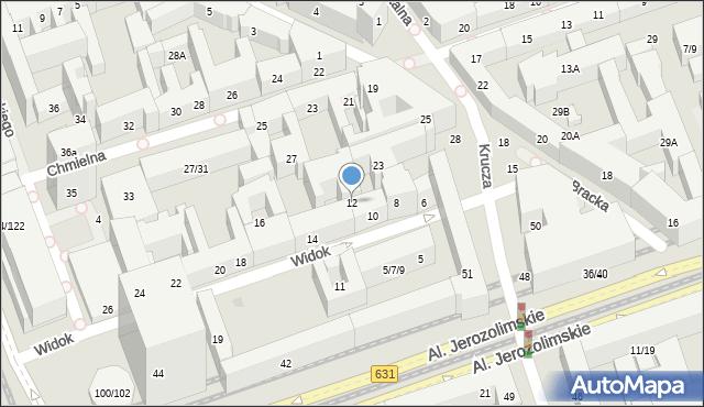 Warszawa, Widok, 12, mapa Warszawy