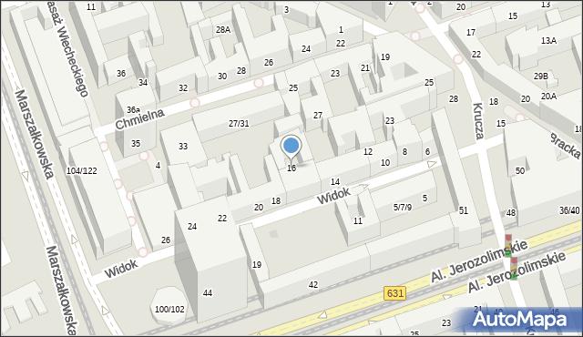 Warszawa, Widok, 16, mapa Warszawy