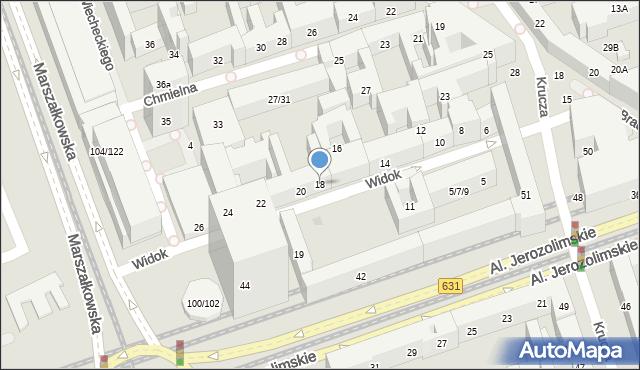 Warszawa, Widok, 18, mapa Warszawy