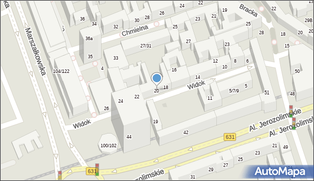 Warszawa, Widok, 20, mapa Warszawy