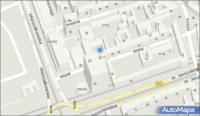 Warszawa, Widok, 22, mapa Warszawy
