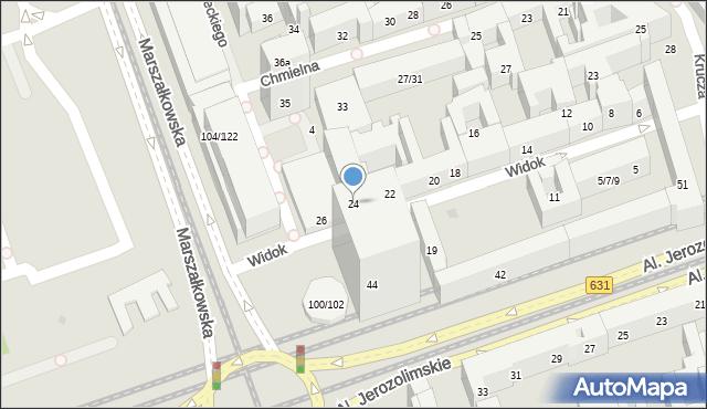 Warszawa, Widok, 24, mapa Warszawy