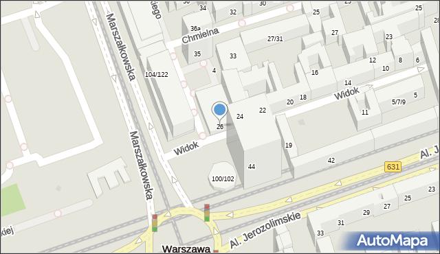 Warszawa, Widok, 26, mapa Warszawy