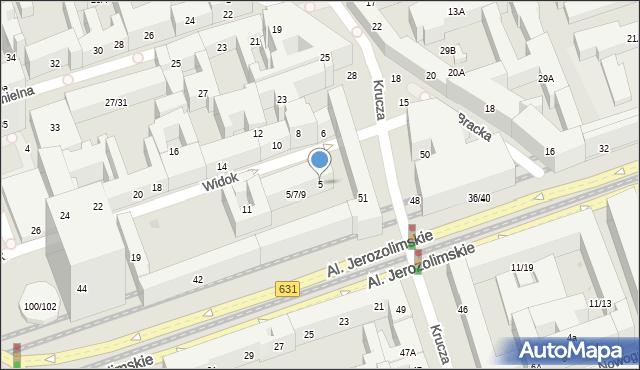 Warszawa, Widok, 5, mapa Warszawy
