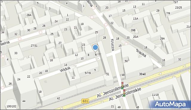 Warszawa, Widok, 6, mapa Warszawy