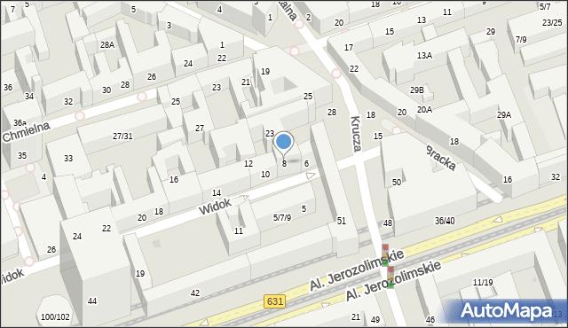Warszawa, Widok, 8, mapa Warszawy