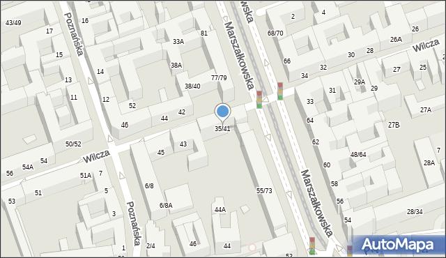 Warszawa, Wilcza, 35/41, mapa Warszawy