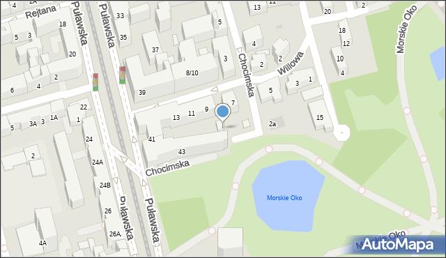 Warszawa, Willowa, 10, mapa Warszawy