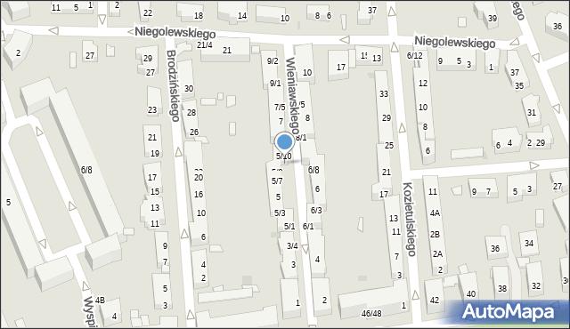 Warszawa, Wieniawskiego Henryka, 5/9, mapa Warszawy