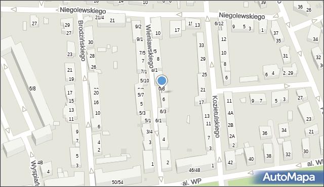 Warszawa, Wieniawskiego Henryka, 6/7, mapa Warszawy