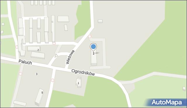 Warszawa, Wieżowa, 2, mapa Warszawy