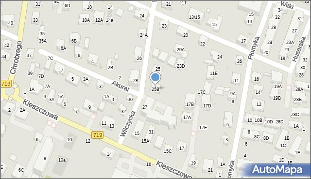 Warszawa, Wilczycka, 25B, mapa Warszawy