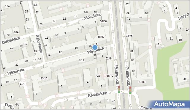 Warszawa, Wiktorska, 5a, mapa Warszawy