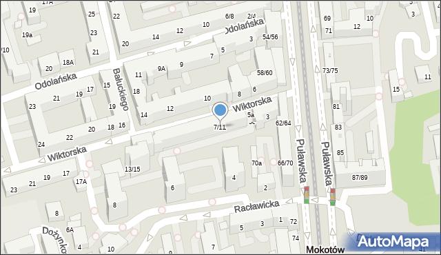 Warszawa, Wiktorska, 7/11, mapa Warszawy