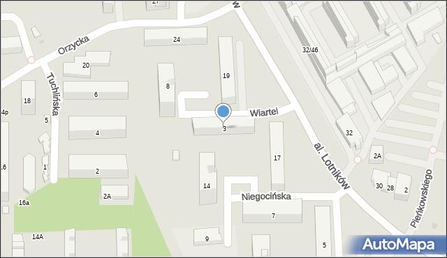 Warszawa, Wiartel, 3, mapa Warszawy