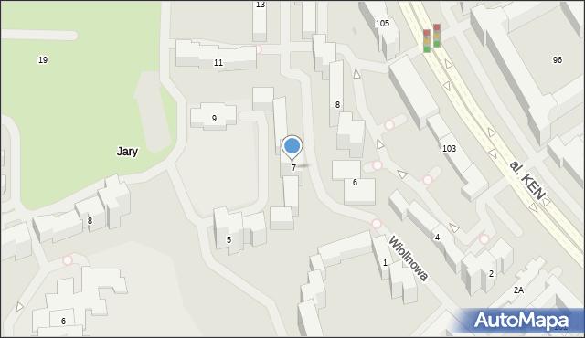 Warszawa, Wiolinowa, 7, mapa Warszawy